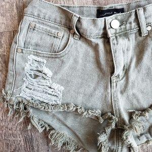 Mustard Seed Distressed Denim Shorts